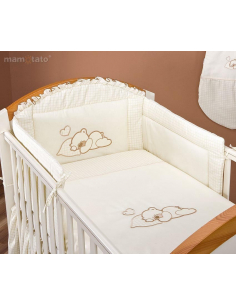Brodyr påslakanset Lovely Teddy Cream